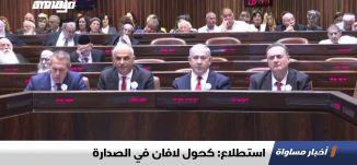 استطلاع: كحول لافان في الصدارة،اخبار مساواة 27.11.2019، قناة مساواة