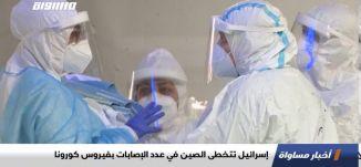 إسرائيل تتخطى الصين في عدد الإصابات بفيروس كورونا،اخبار مساواة،11.08.2020،قناة مساواة