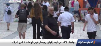دراسة: 51% من الإسرائيليين يعارضون أي ضم أحادي الجانب،اخبار مساواة،02.06.20.مساواة