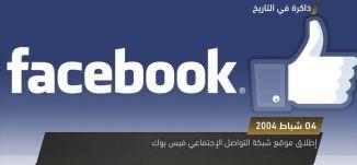 إطلاق موقع شبكة التواصل الإجتماعي فيس بوك، ذاكرة في التاريخ،4.2.2018،  قناة مساواة الفضائية