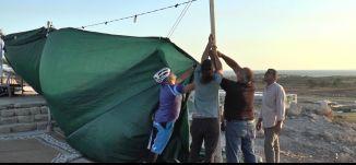 ''بعدما هدموا المسجدعملنا خيمة اعتصام بقيت الى يومنا ''  - قرية الصرفند المهجرة - خراريف رمضان - ح5