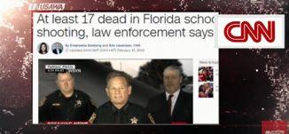 سي ان ان :  17  قتيلا في مدرسة في فلوريدا ، مترو الصحافة،   15.2.2018 ، قناة مساوة الفضائية
