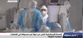 الصحة الإسرائيلية تعلن عن ذروة غير مسبوقة في الإصابات اليومية بكورونا،اخبار مساواة،23.9.2020،مساواة