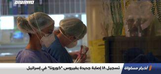 """تسجيل 18 إصابة جديدة بفيروس """"كورونا"""" في إسرائيل،اخبار مساواة،22.05.2020،قناة مساواة"""