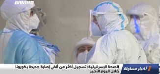 الصحة الإسرائيلية:تسجيل أكثر من ألفي إصابة جديدة بكورونا خلال اليوم الأخير،اخبار مساواة،30.7.،مساواة