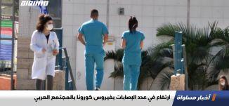 ارتفاع في عدد الإصابات بفيروس كورونا بالمجتمع العربي،اخبارمساواة،25.10.2020،قناة مساواة