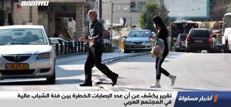 تقرير يكشف عن أن عدد الإصابات الخطرة بين فئة الشباب عالية في المجتمع العربي،تقرير،اخبارمساواة،30.11