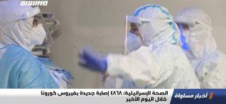 الصحة الإسرائيلية: 4868 إصابة جديدة بفيروس كورونا خلال اليوم الأخير،اخبارمساواة،25.01.21،قناة مساواة