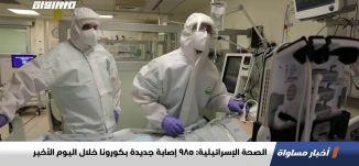 الصحة الإسرائيلية: 985 إصابة جديدة بكورونا خلال اليوم الأخير،اخبارمساواة،30.11.20،مساواة