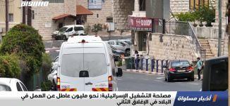 مصلحة التشغيل الإسرائيلية: نحو مليون عاطل عن العمل في البلاد في الإغلاق الثاني،اخبار مساواة،30.09